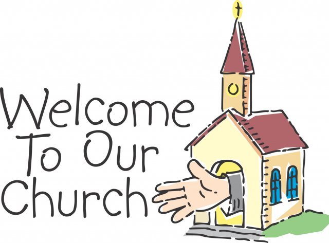 Image result for welcome to our church clip art