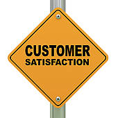 3d Customer Satisfaction Road Sign   Clipart Graphic