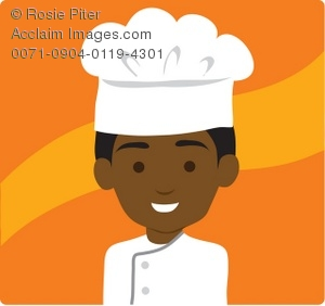 African American Black Chef Royalty Free Clip Art Picture