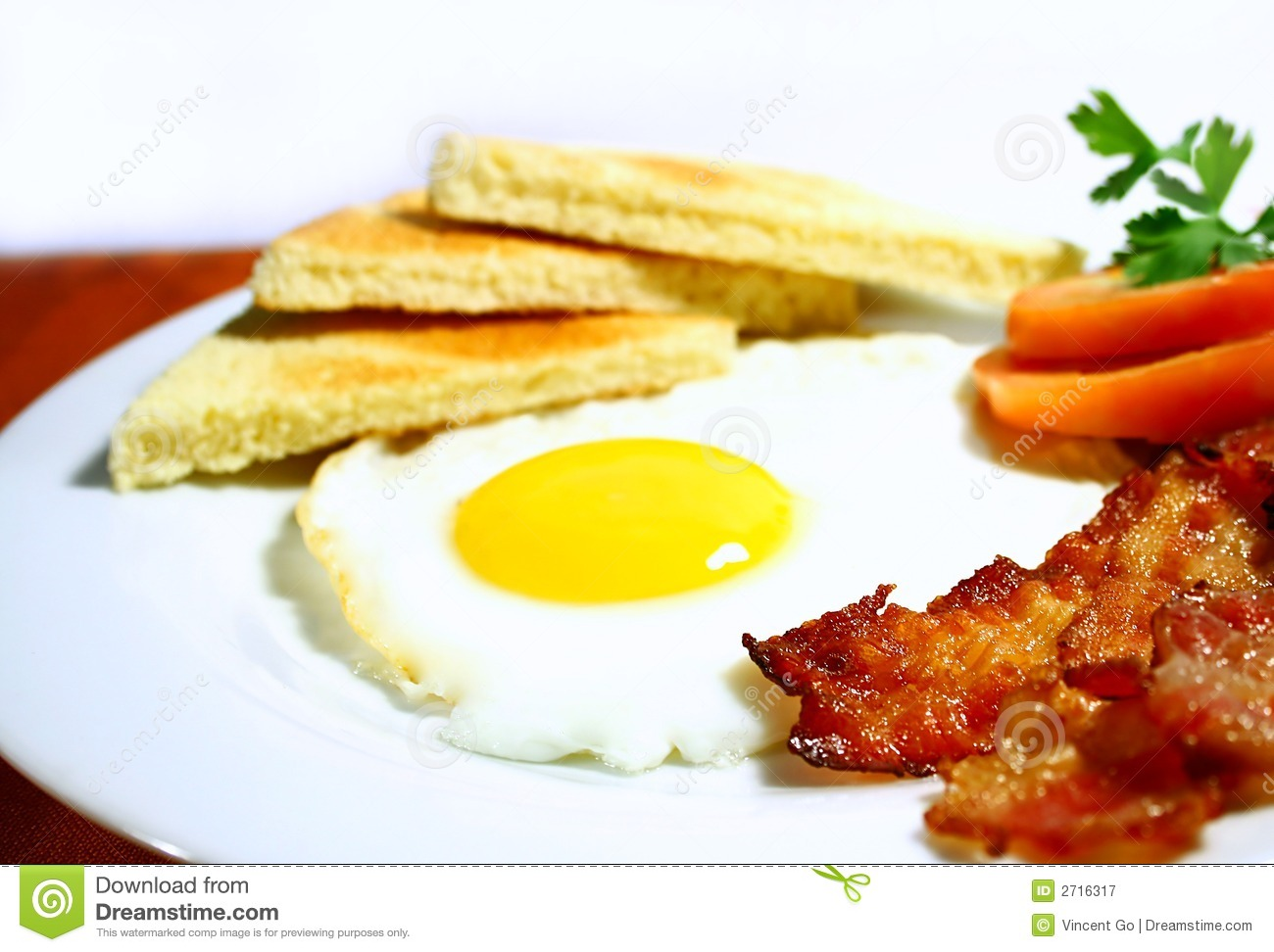 Bacon And Eggs Royalty Free Stock Photography   Image  2716317