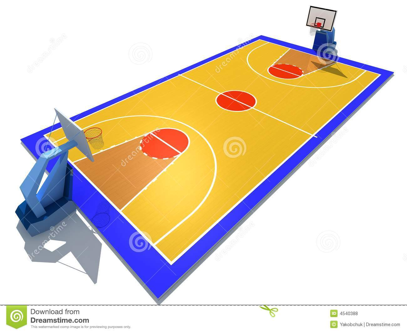 Basketball Court Clipart Black And White Basketball Court 4540388 Jpg