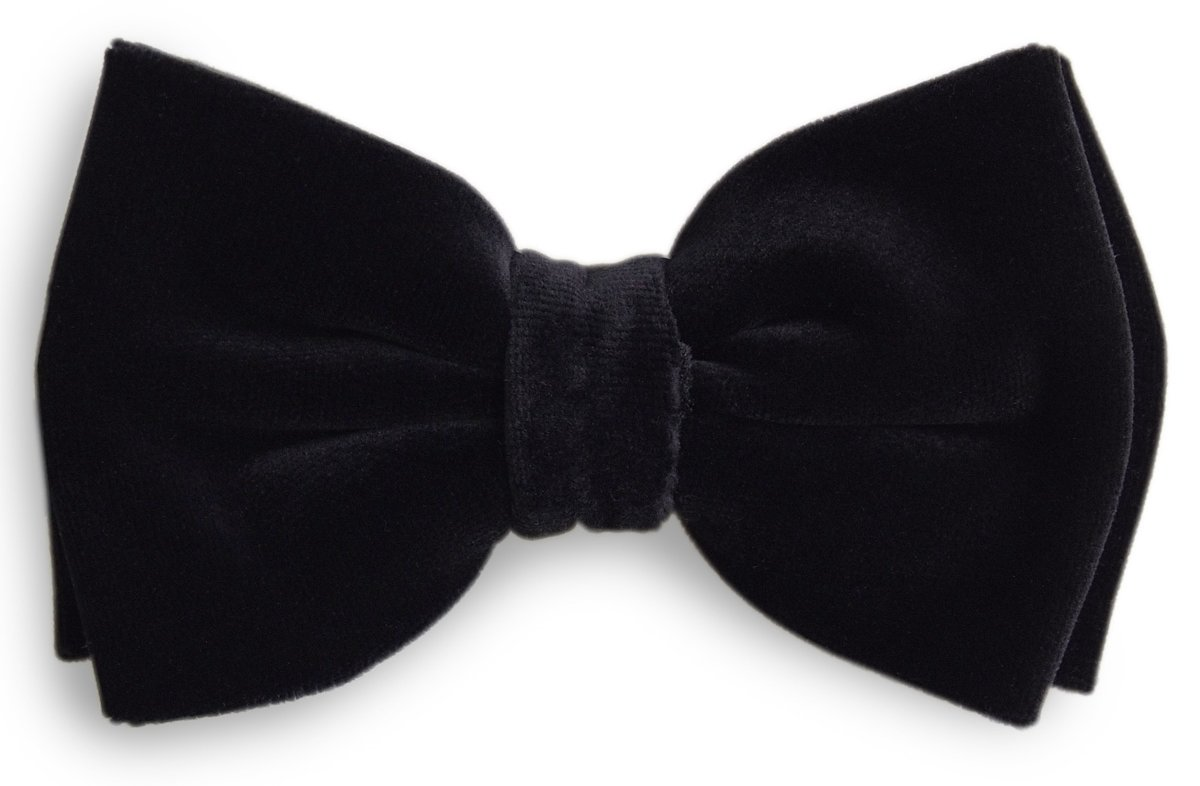 Black Pattern Is One Of The Very Few Exception S To The Black Bow Tie