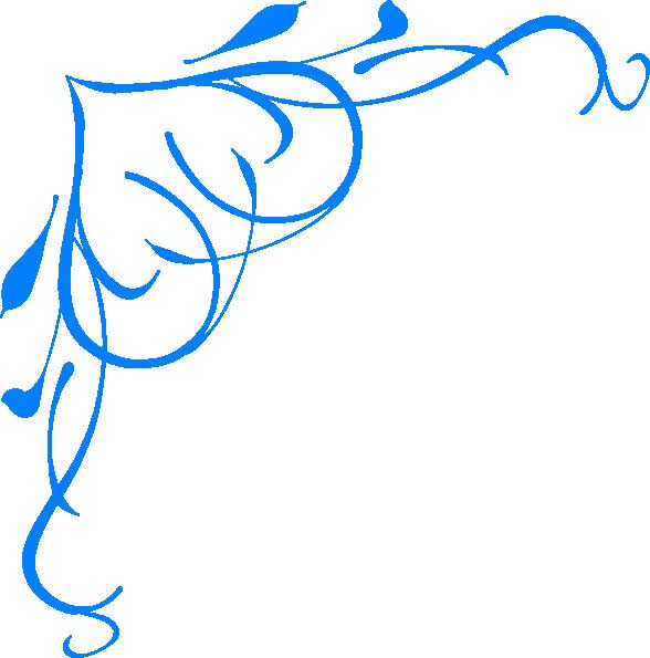 Blue Heart Border Clip Art At Clker Com   Vector Clip Art Online