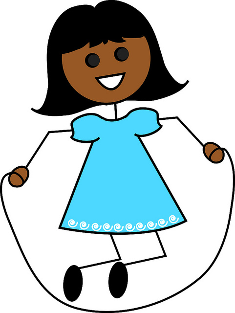 Clip Art Illustration Of A Cartoon Hispanic Girl Jumping Rope   Flickr