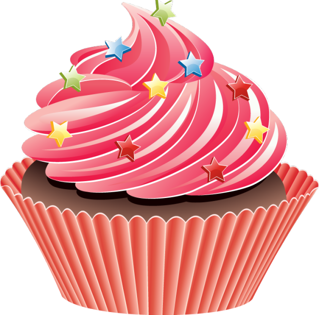Clip Art Cupcake with Sprinkles