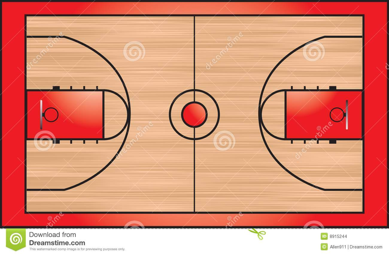 Clipart Basketball Court