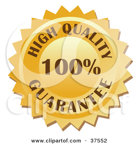 Clipart Illustration Of A Golden 100 Percent High Quality Guarantee