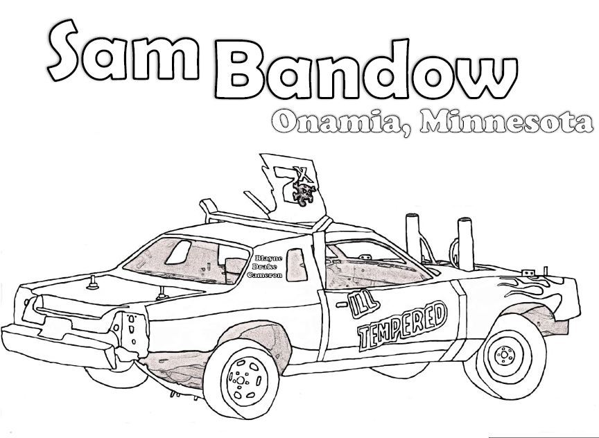 Demo Car Coloring Pages : Crashed derby car clipart suggest