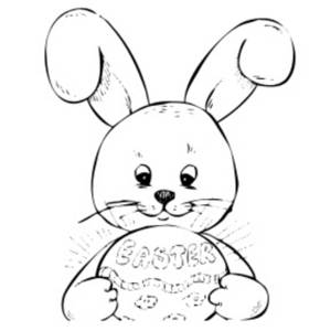 Easter Bunny With Eggs Clipart Black And White Bunny Black And White ...