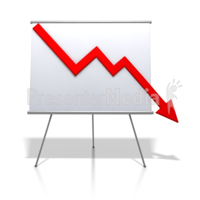 Financial Graph Decrease   Signs And Symbols   Great Clipart For