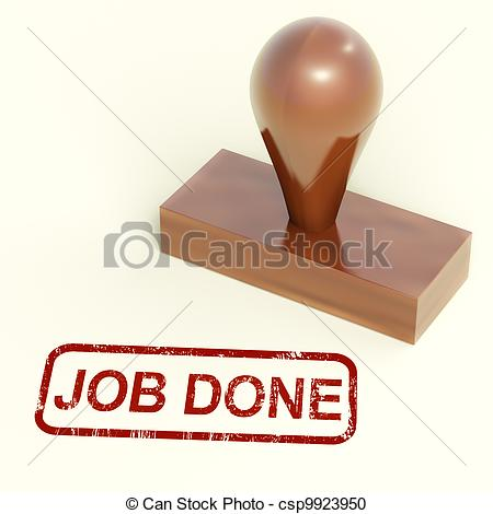 Finished Work   Job Done    Csp9923950   Search Clipart Illustration