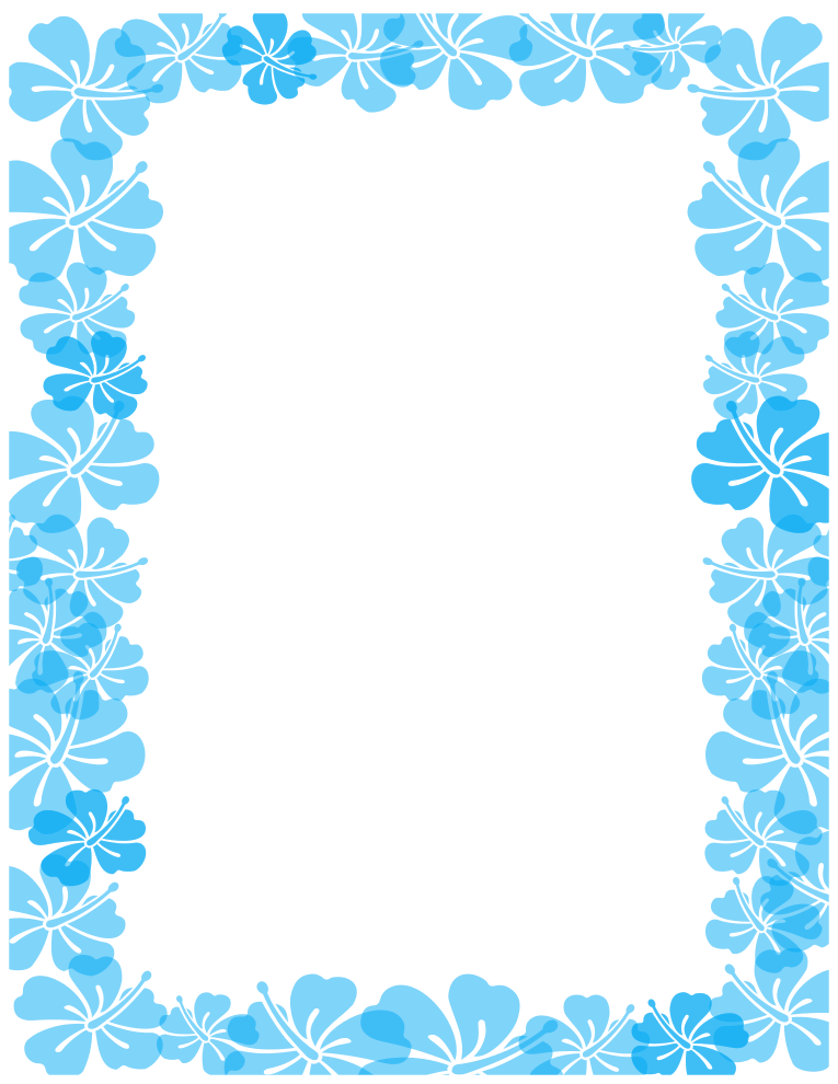 Free Borders And Clip Art Hibiscus Themed Clip Art And Borders
