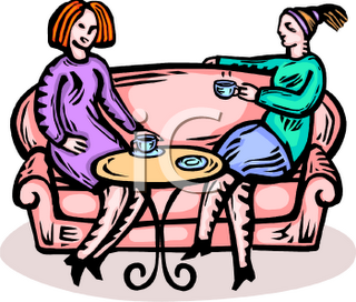 Group Of Friends Talking Clipart 0511 0811 2015 2509 Two Women