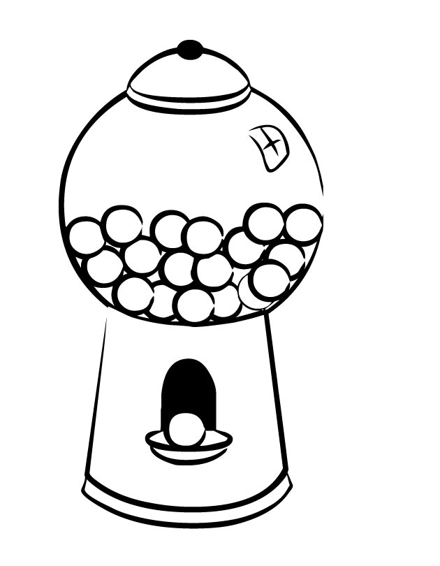 gum coloring pages gum black and white clipart clipart suggest