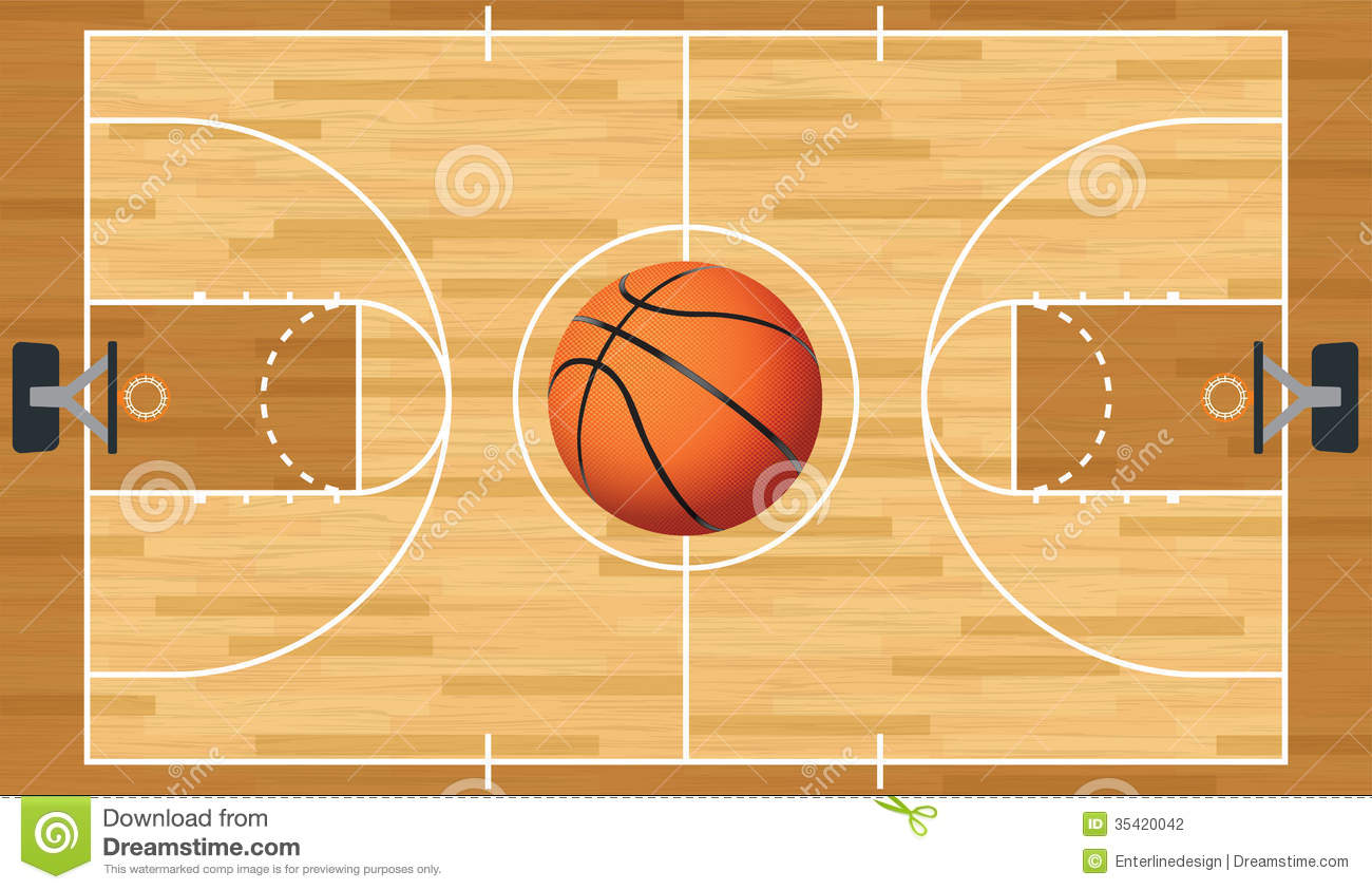 Basketball court floor clipart