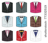 Jacket Icons With Shirts And Ties Isolated On White 77332519 Jpg