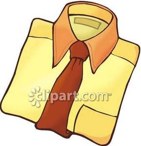 Men S Dress Shirt With Tie   Royalty Free Clipart Picture
