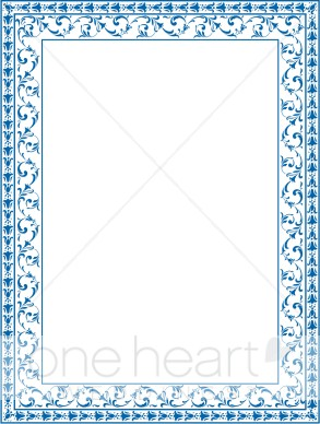 Ornate Blue Border   Fancy Border Accents