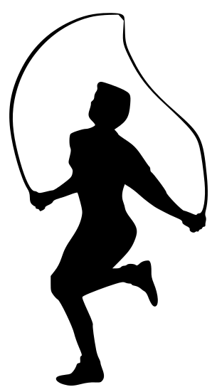 Recreation Fitness Fitness Silhouettes Fitness Jumprope Man Png Html