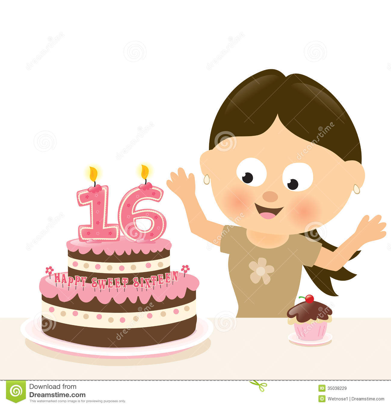 13th Birthday Cakes On Sweet Sixteen Clip Art Images Sweet Sixteen