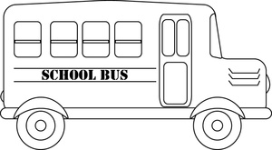 Black And White School Bus Template For Pinterest