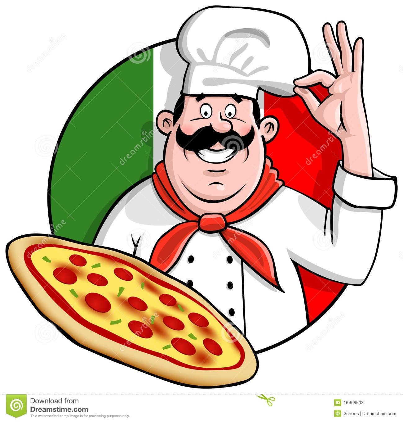 Italian Pizza Chef Clipart - Clipart Kid