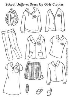 Print Colour In Cut Out And Dress Up Ready For School
