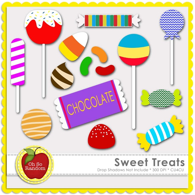 Sweet Treats Clip Art For Commercial Use   13 High Quality Graphics