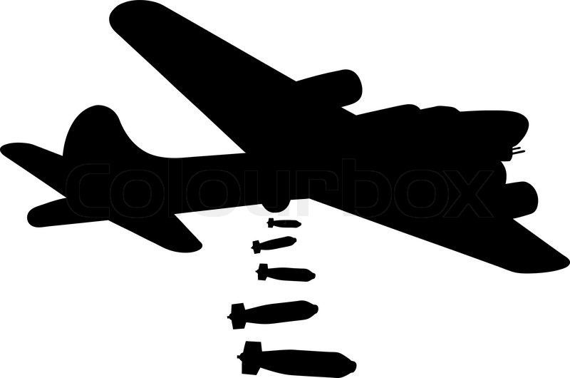 Ww2 Bomber Silhouette Clipart   Free Clip Art Images
