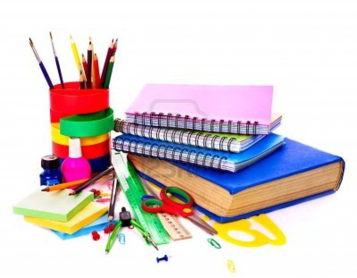 9899305 Back To School Supplies Isolated