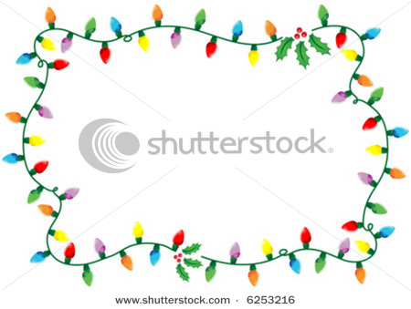 Christmas Light Border Clip Art Black And White Images   Pictures