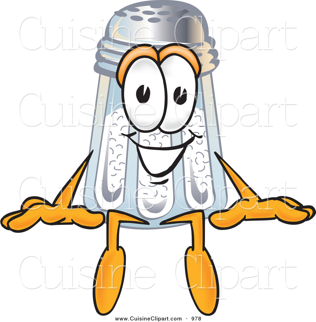 Cuisine Clipart Of A Happy Salt Shaker Mascot Cartoon Character