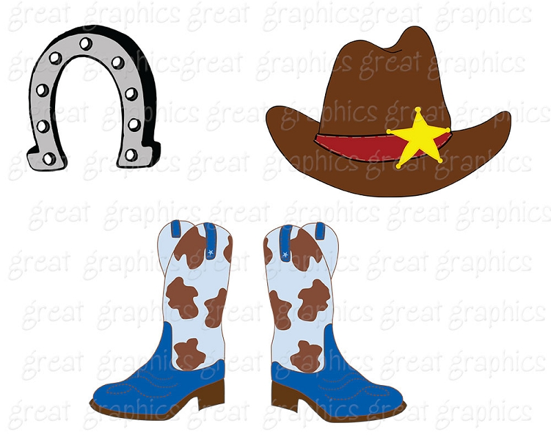Cute Western Boot Clipart - Clipart Kid