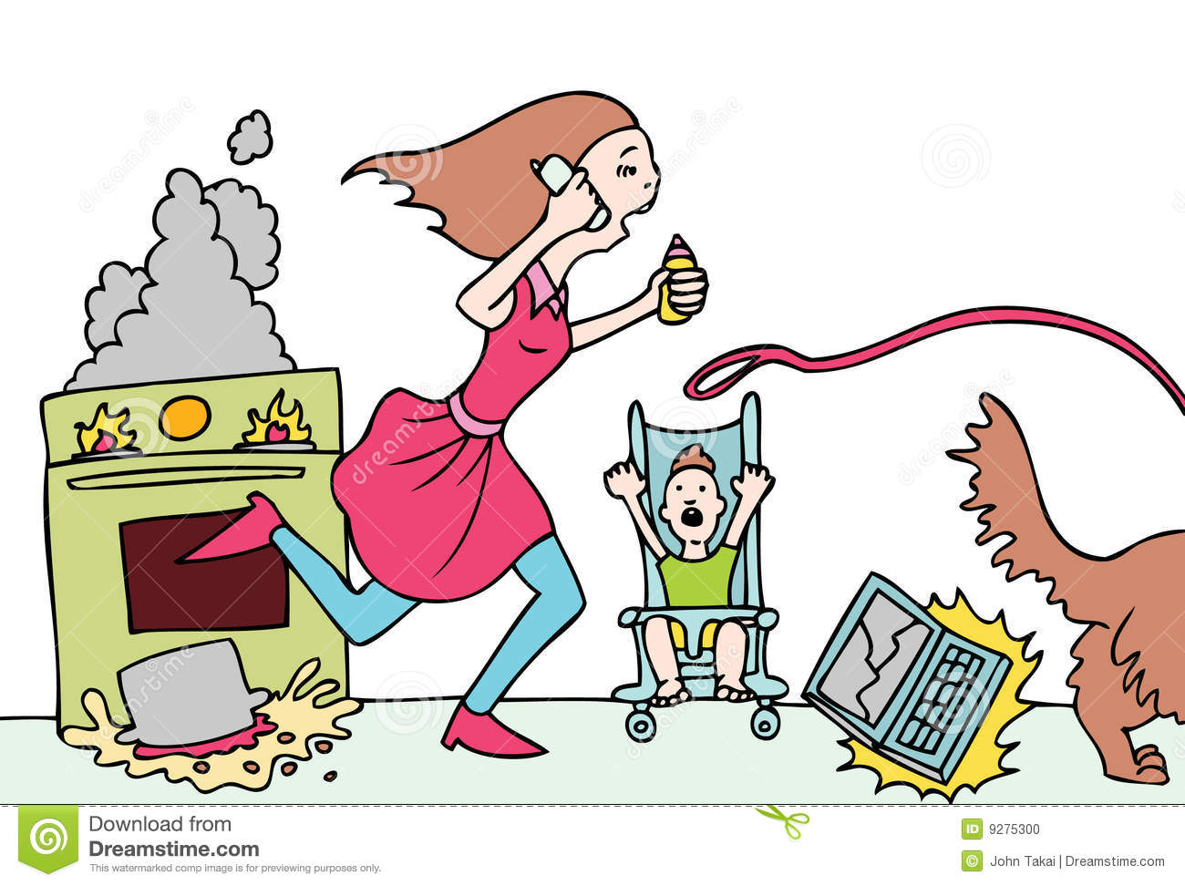 Displaying 20  Images For   Tired Mom Clipart