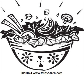 Drawings Of A Bowl Of Salad Kle0074   Search Clip Art Illustrations