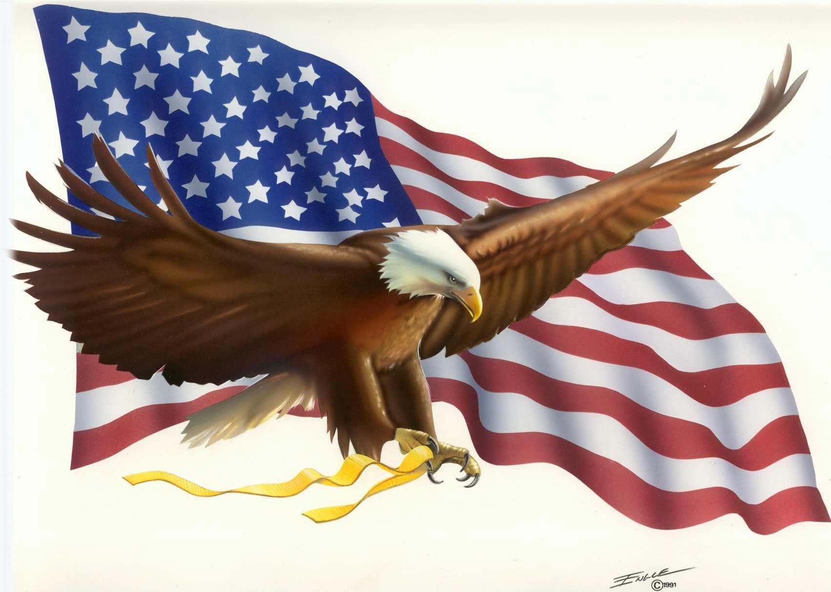 American Flag Eagle Clip Art
