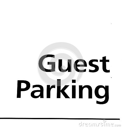 Guest Parking Sign  Stock Photos   Image  28135753