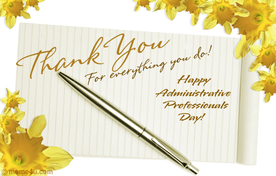 Happy Administrative Professionals Day Greetings   Let S Celebrate