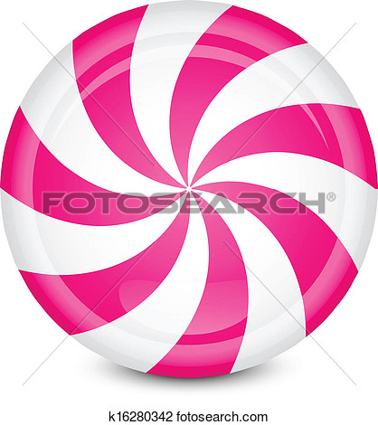 Peppermint Candy View Large Clip Art Graphic
