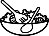 Salad Bowl Clipart