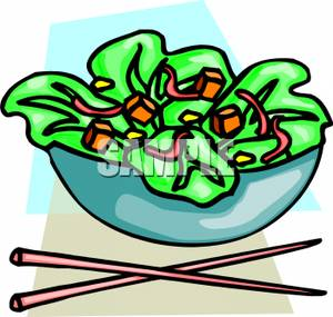 Salad Clipart Chopsticks By A Salad In A Bowl 110615 195942 025009 Jpg