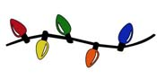 String Of Christmas Lights Clipart Christmas Lights Xmas Decorations