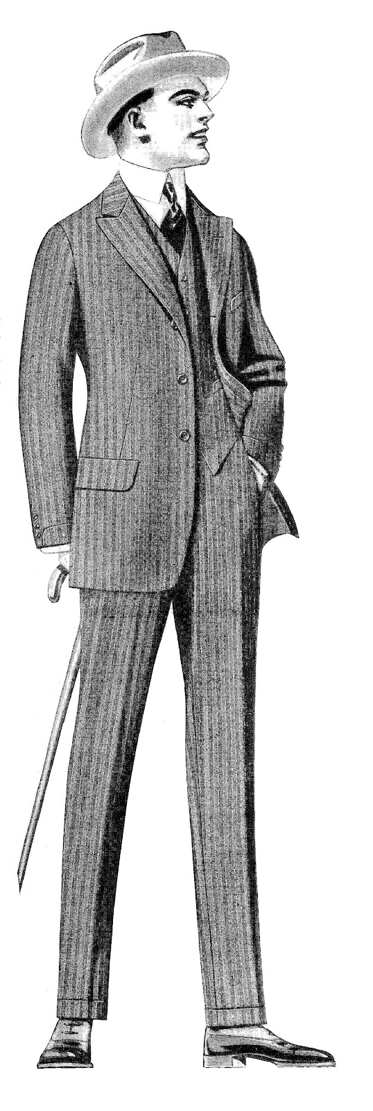 Antique Images  Vintage Men S Fashion Clip Art  2 Vintage Men S Suits