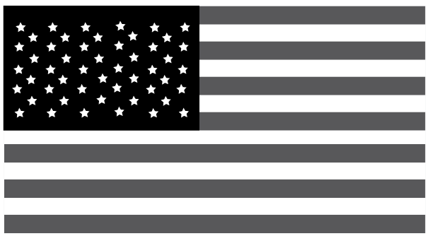 Black And White American Flag Graphic