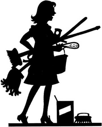 Cleaning Lady Clip Art Black And White Black Lady Cleaning