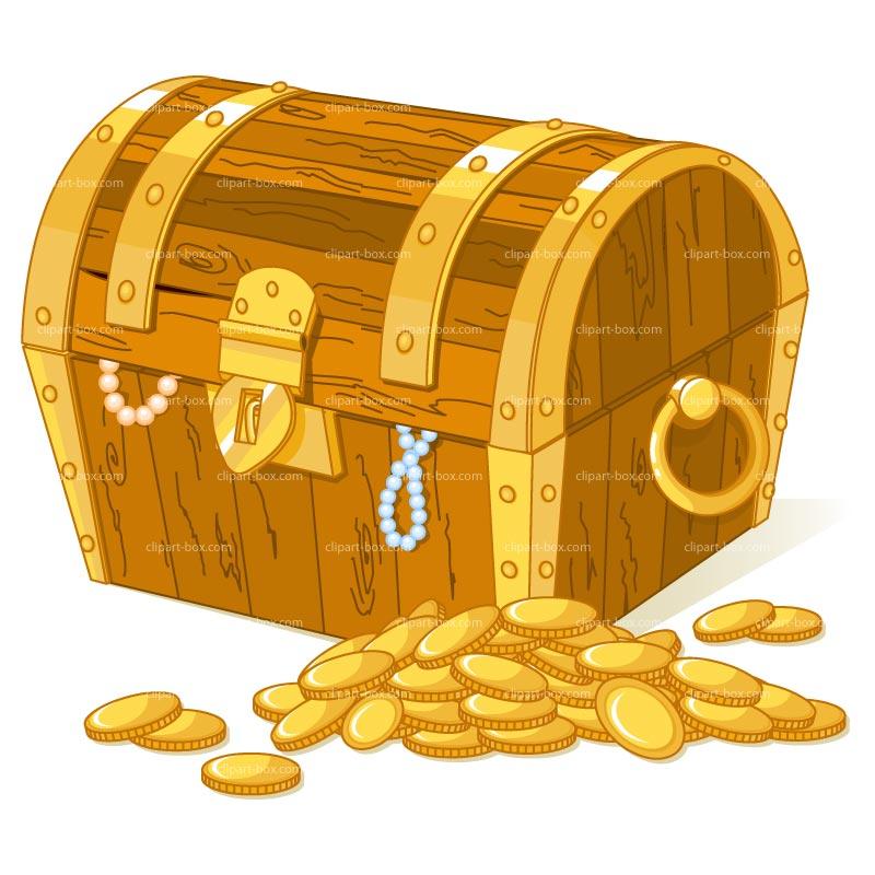 Free Treasure Chest Clipart: Treasure Box Clipart