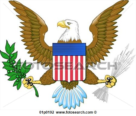 Clipart   Us Eagle  Fotosearch   Search Clip Art Illustration Murals