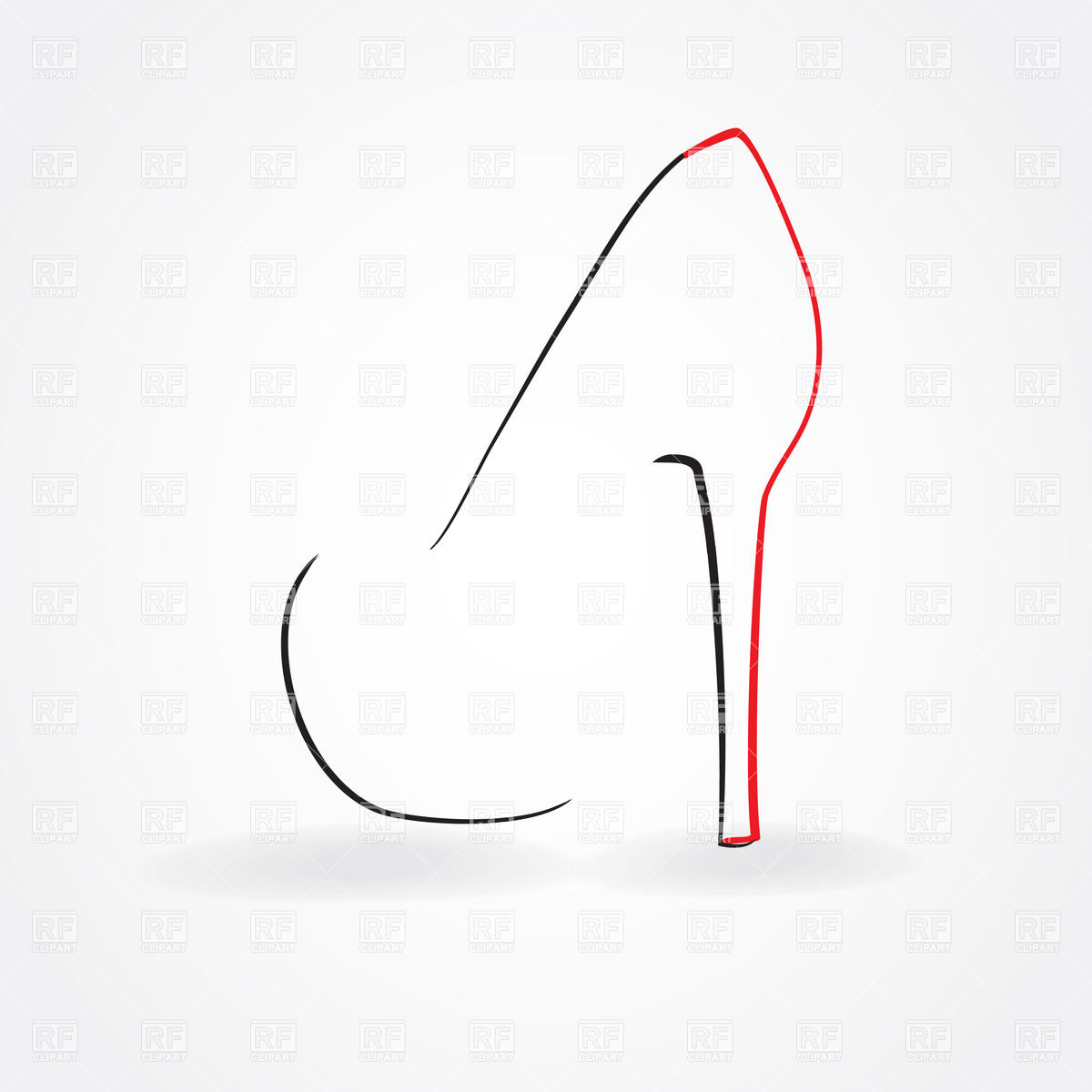 Heel Shoe Simple Outline Download Royalty Free Vector Clipart  Eps