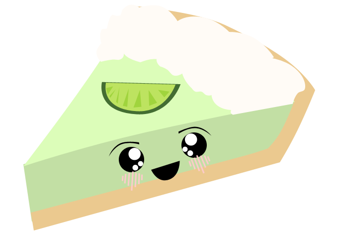 Kawaii Key Lime Pie By Lyricalkaleidoscope On Deviantart