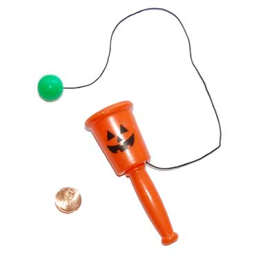 Leaves Mini Spring Toys Pumpkin Cup And Ball Game Bat Noise Makers